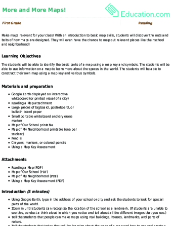 More And More Maps Lesson Plan Education