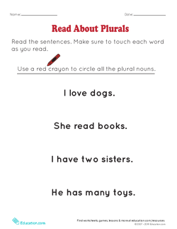 Read About Plurals