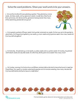 Word Problems: Flower Power