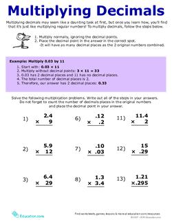 How to Multiply Decimals