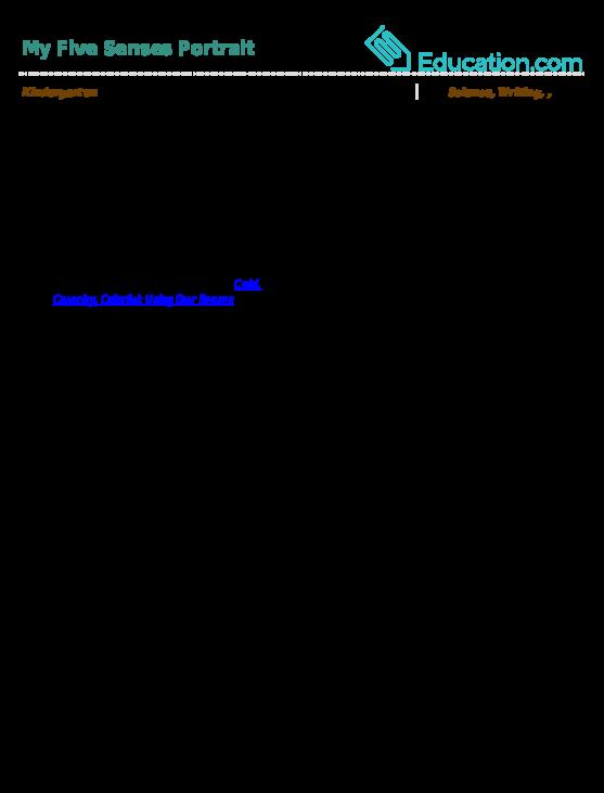 setting description using senses examples
