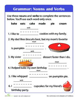 Grammar: Nouns and Verbs