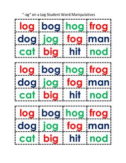 Ogs on a Log Manipulatives (2)