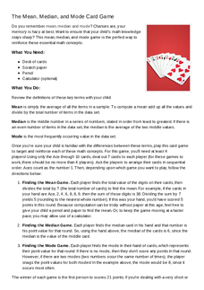 olympic math mean median and mode review lesson plan education