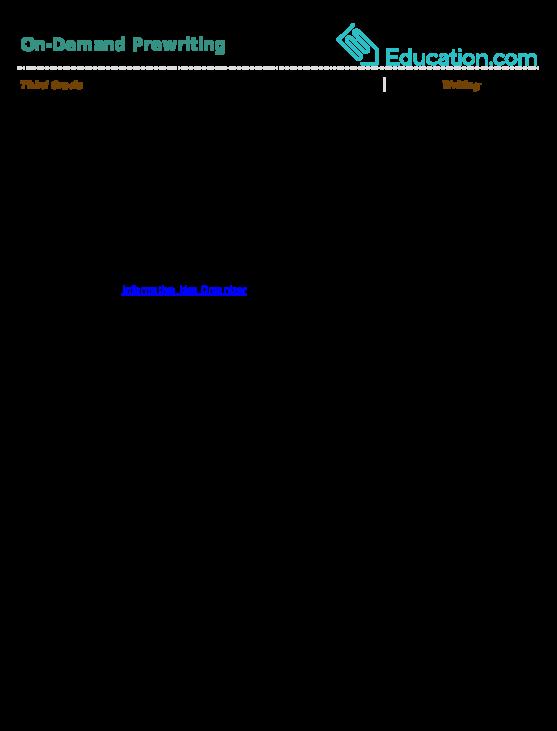 Topic Sentence Worksheet Education Com