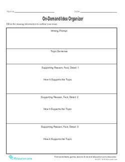 On-Demand Idea Organizer