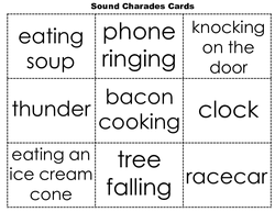 Sounds Charades Cards
