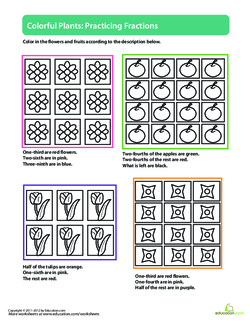 Colorful Plants: Practicing Fractions