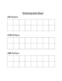 Patterning Grid Sheet