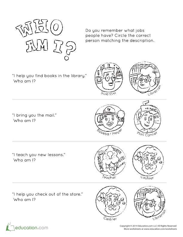 coloring pages lesson plan our community   People in the Community   Lesson Plan   Education.com