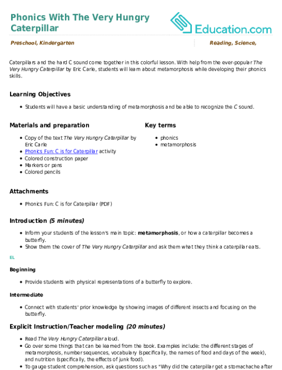 Preschool Lesson Plans Education