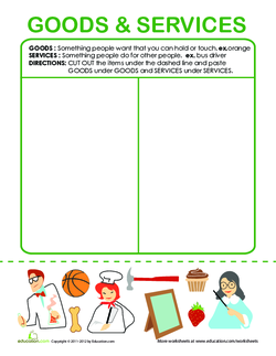 What are Goods and Services? Graphic Organizer with Pictures