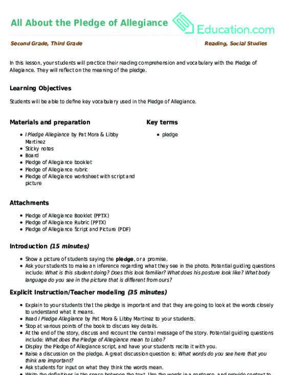 pledge of allegiance worksheet resultinfos. Black Bedroom Furniture Sets. Home Design Ideas