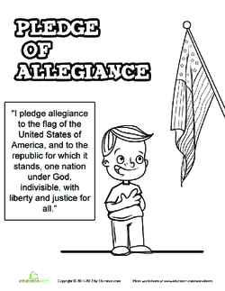 Pledge of Allegiance Coloring Page