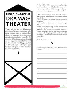 Learning Genres: Drama and Theater