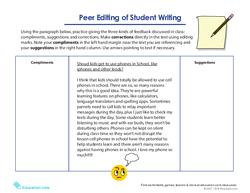 Peer Editing of Student Writing