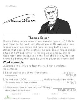 Historical Heroes: Thomas Edison