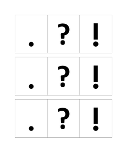 Punctuation Student Cards