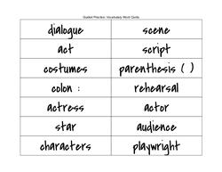 Drama Vocabulary Cards