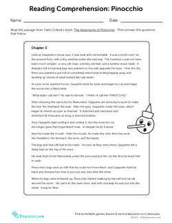Reading Comprehension:  Pinocchio
