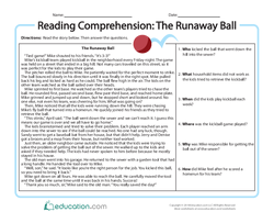 Reading Comprehension: The Runaway Ball