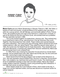 All About Marie Curie