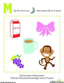 Letter Sounds: M