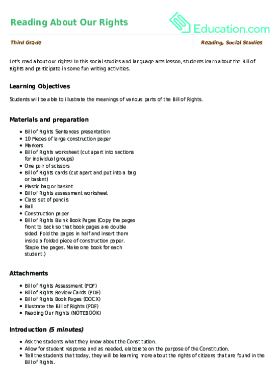 The Bill Of Rights Worksheet Free Worksheets Library | Download ...