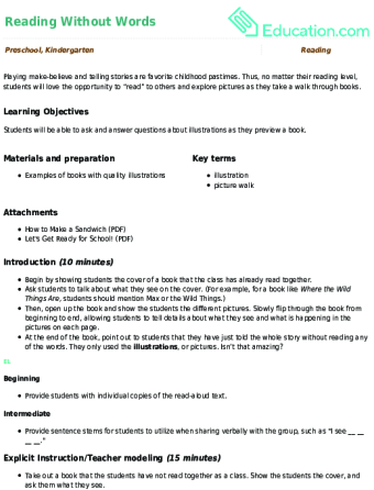 Kindergarten Reading Lesson Plans | Education com