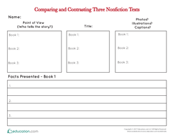 Comparing & Contrasting Three Nonfiction Texts