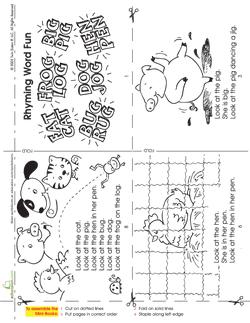 Rhyming Word Fun mini story book