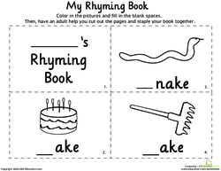 how to explain the word rhyming to children