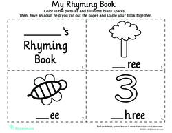 rhyming words for kindergarten my rhyming book 3 pdf