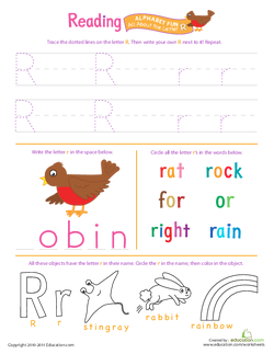 Reading: All About the Letter R