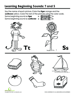 Beginning Sounds: T and S