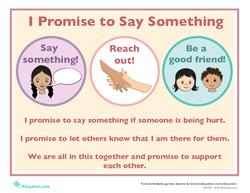 I Promise to Say Something