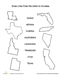 US State Matching Game