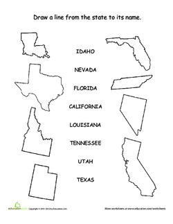 US State Matching Game