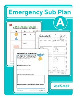 Second Grade Sub Plan: Day 1