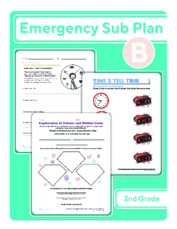 Second Grade Sub Plan: Day 2