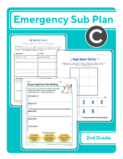Second Grade Sub Plan: Day 3