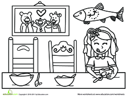 Goldilocks Scene coloring page