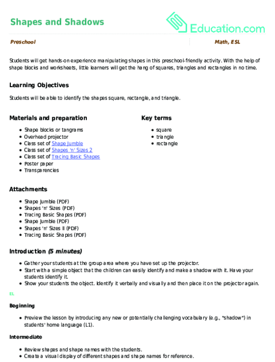 Tracing Basic Shapes Worksheet – Basic Shapes Worksheets