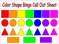 Color Shape Bingo Game