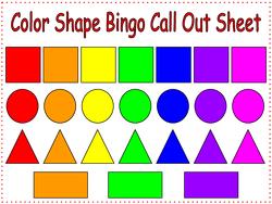 Shapes For Kindergarten on Preschool Number Bingo 1 10