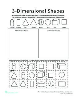 Sort 2D and 3D Shapes