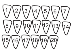 Shark Teeth Numbers