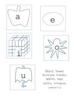 Short Vowel Picture Cards