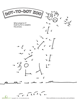 Dot to Dot Zoo by 5s