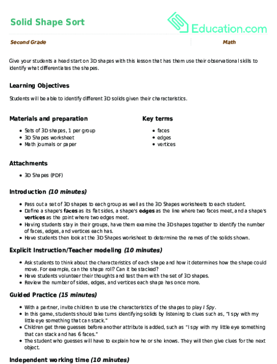 Faces Edges and Vertices Worksheet – Faces Edges Vertices Worksheet